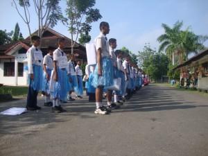 Masa Orientasi Siswa (MOS) Tahun Ajaran 2011-2012 SMAN 3 Unggulan Kayuagung