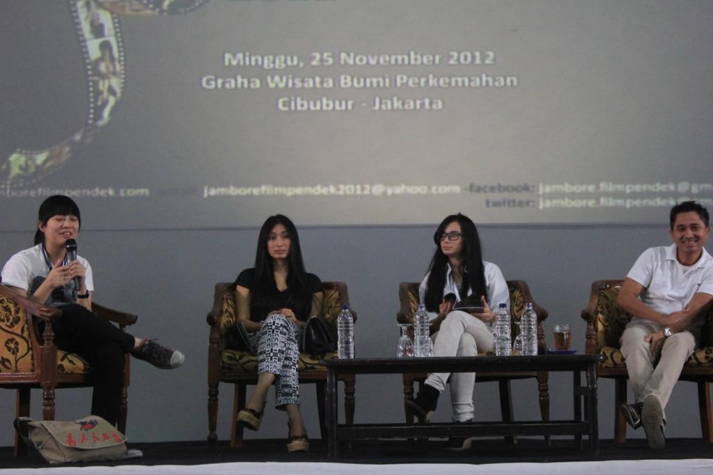 Kegiatan Talkshow Jambore Film Pendek 2012