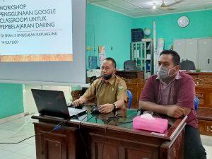 In House Training : Workshop Penggunaan Google Classroom untuk Pembelajaran Daring SMAN 3 Unggulan Kayuagung