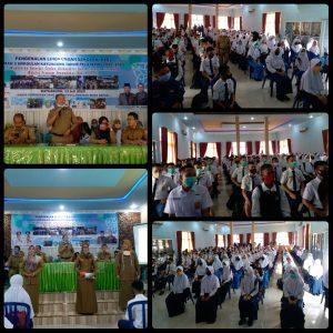 Kegiatan PLS SMAN 3 Unggulan Kayuagung mensosialisasikan sekolah dan asrama dengan menerapkan protokol kesehatan