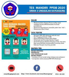 Petunjuk Pelaksanaan Tes Mandiri PPDB 2020